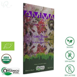 Chocolate Amma Orgânico Gula Merah 70% Cacau 80g - Amma Chocolate