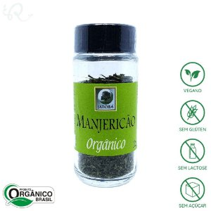 Tempero Manjericão Seco Orgânico 12g - Jatobá (CONSUMO IMEDIATO)