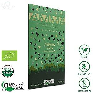 Chocolate Amma Orgânico Nibirus 75% Cacau 80g - Amma Chocolate