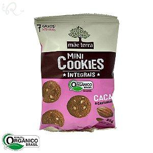 Cookie Orgânico Cacau e Castanhas 25g - Mãe Terra