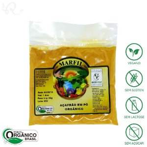 Açafrão em Pó Orgânico 50g - Marfil