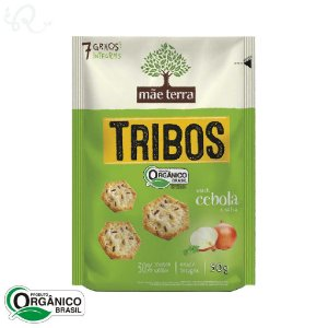 Biscoito Orgânico Tribos Snack Cebola e Salsa 50g - Mãe Terra