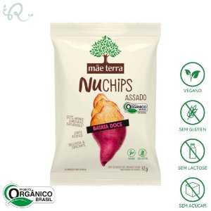 NuChips Chips Batata Doce 32g - Mãe Terra (VENCIMENTO PRÓXIMO)
