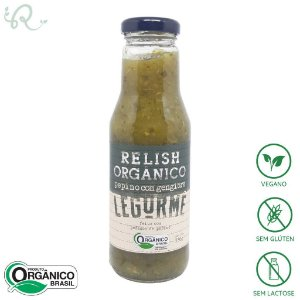 Relish de Pepino com Gengibre (Conserva) Orgânico 330g - Legurmê
