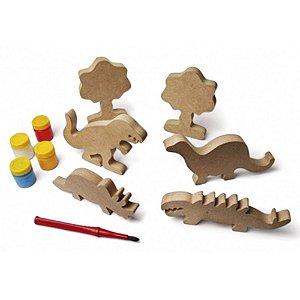 Família dinossauro para pintar
