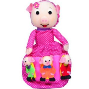 Boneca vice-versa Três porquinhos