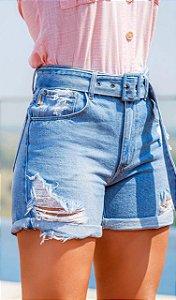 Short Jeans Faixa Fivela