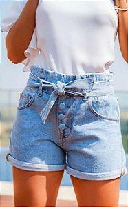 Short Jeans Botões Encapados