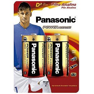 Pilha Alcalina D2 Panasonic