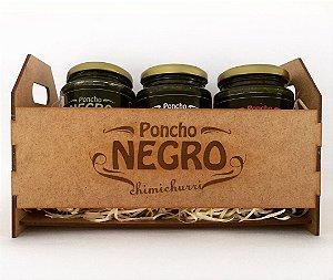 Kit Poncho Negro