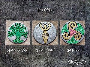 Trio Celta - Árvore da Vida, Deusa Espiral e Triskelion