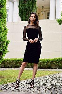 Vestido Veludo Calvin Klein