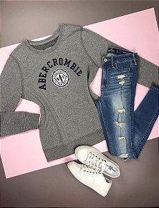 Sweatshirt Abercrombie Cinza