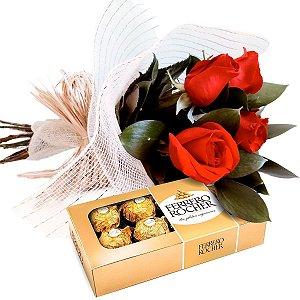 Encanto de Rosas com Ferrero Rocher