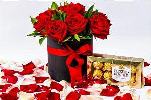 Box Luxo com Ferrero Rocher