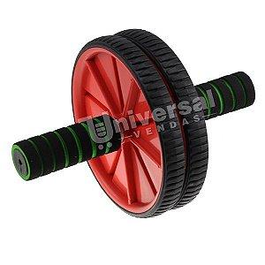 Roda Para Exercícios Abdominal Lombar Exercise Wheel +apoio Vermelha