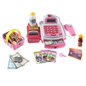 Caixa Registradora Brinquedo Infantil C/ Luz Som Acessórios