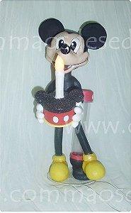 Luminária de mesa de festas Mickey 27cm - Numero com pavio mágico grátis