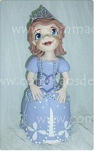 Princesa Sofia 19cm -  Numero com pavio mágico grátis