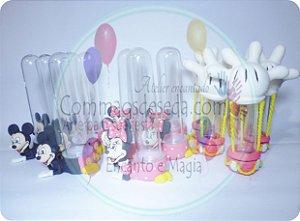 15 Tubetes - Minnie e Mickey kit de 15 peças