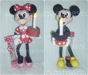 Luminarias Disney Minnie ou Mickey