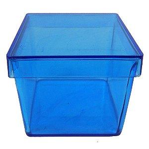 12 caixa de acrilico cor de Azul - 5x5cm