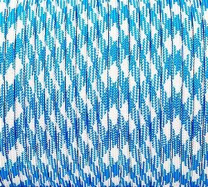 Paracord 550 Azul e Branco