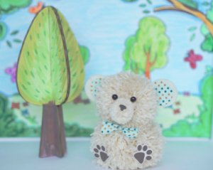 Urso na Floresta - Kit DIY Pompom