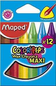 Giz de Cera Color Peps Maxi - 12 cores