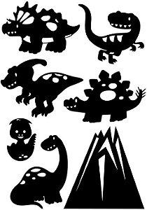 Dinossauros - personagens para Teatro de Sombras