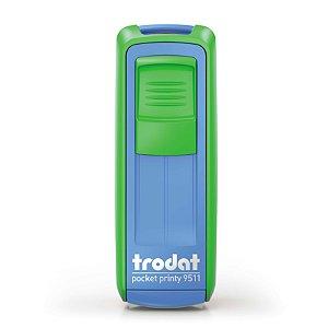 Carimbo de Bolso Trodat Pocket 9511 Verde Maçã