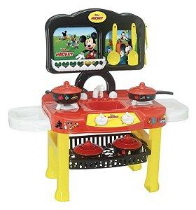 Fogão Infantil Disney Mickey + Panelinhas - 12 Peças - Mielle Brinquedos