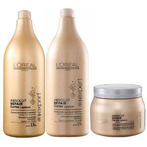 L'Oréal Absolut Repair Shampoo 1,5l + Condicionador 1,5l + Máscara 500ml