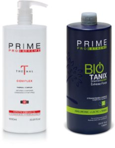 Escova Progressiva Prime Pro Extreme Bio Thermal - 1 Step 2 Thermal Complex 1000ml + 1 Step 2 Bio Tanix 1000ml
