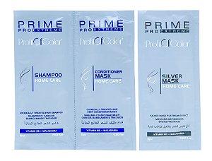 Kit Profit of Color Home Care Prime Pro Extreme - Shampoo + Máscara Condicionadora + Máscara Matizadora Sachê 15ml