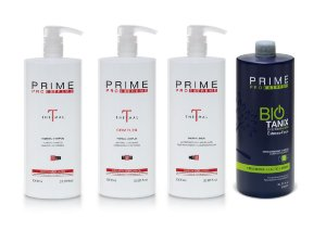 Escova Progressiva Prime Pro Extreme Kit Combo Bio Thermal - 1000ml - Thermal Step 1, 2, 3 + Step 2 Bio Tanix