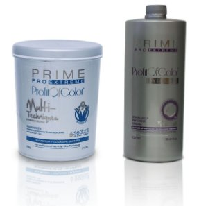 Pó Descolorante Profit of Color Multi-Techniques Luminum Blond 9 tons 500g + OX 40 Volumes 900ml - Prime Pro Extreme