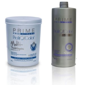 Pó Descolorante Profit of Color Multi-Techniques Luminum Blond 9 tons 500g + OX 20 Volumes 900ml - Prime Pro Extreme
