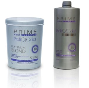 Pó Descolorante Profit of Color Platinum Blond 10 tons 500g + OX 30 Volumes 900ml - Prime Pro Extreme