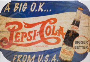 Placa Decorativa Retrô - Pepsi Cola From USA