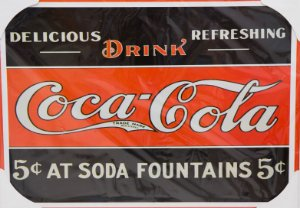 Placa Decorativa Retrô - Coca Cola Drink