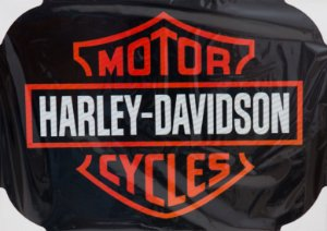 Placa Decorativa Retrô - Harley Davidson Motor Cycles