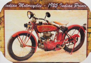 Placa Decorativa Retrô - Indian Motorcycles 1925