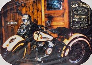 Placa Decorativa Retrô - Harley Davidson Jack Daniels