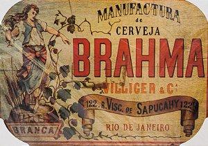 Placa Decorativa Retrô - Cerveja Brahma Rio de Janeiro