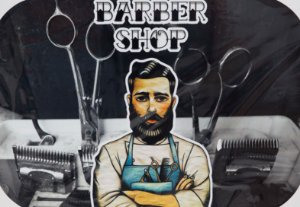 Placa Decorativa Retrô - Barber Shop Professional