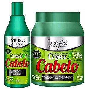 Forever Liss Cresce Cabelo Kit Fitoterápico Shampoo 500ml + Máscara 1kg