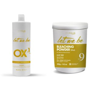 Pó Descolorante Let Me Be 9 Tons 400g + OX 10 Let Me Be 10 Volumes 1000ml