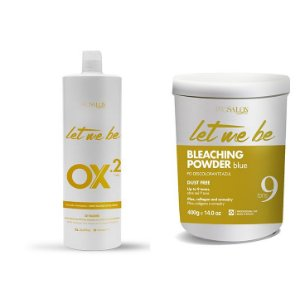 Pó Descolorante Let Me Be 9 Tons 400g + OX 20 Let Me Be 20 Volumes 1000ml