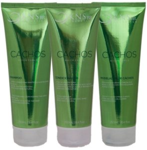 Kit Cachos Quick Curls Kans Br - Shampoo 250ml + Condicionador 250ml + Modelador 250ml